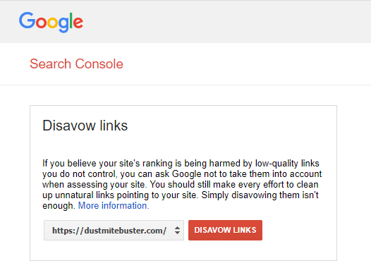 Disavow spam links