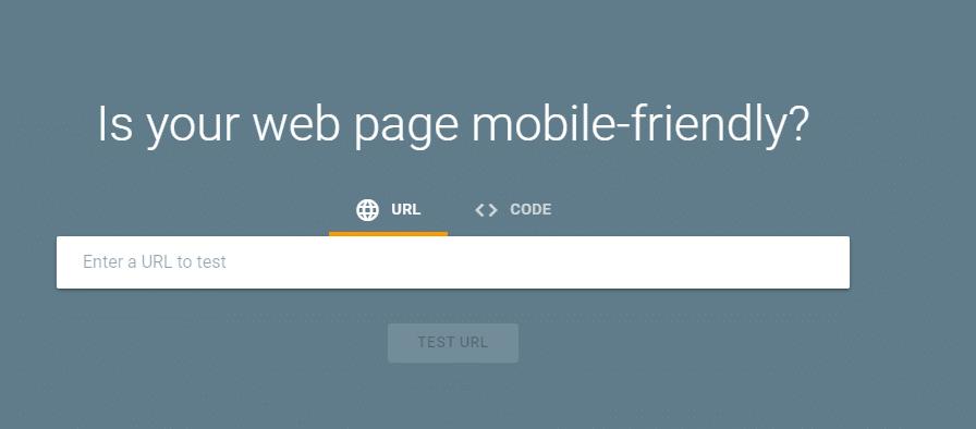Google mobile friendliness tool